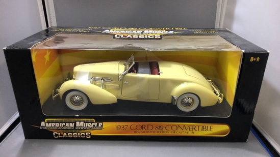 1937 Cord 812 Convertible Diecast Model.