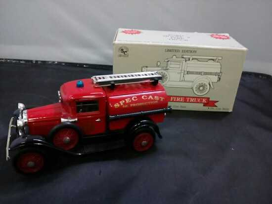 Ford Model A Fire Truck Die-Cast Bank.