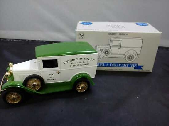 Ford Model A Delivery Van Die-Cast Bank.