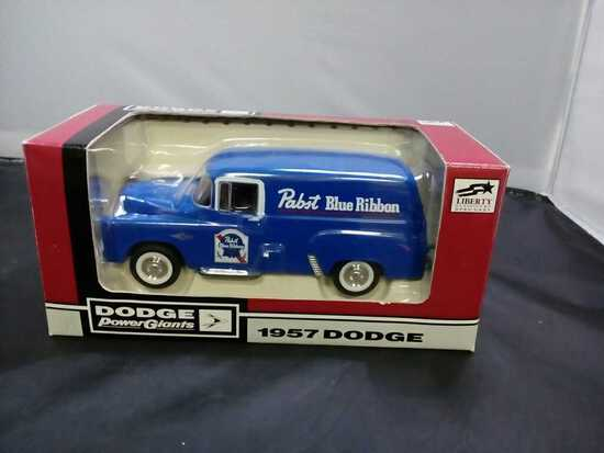 1957 Pabst Blue Ribbon Dodge Die-Cast Bank.