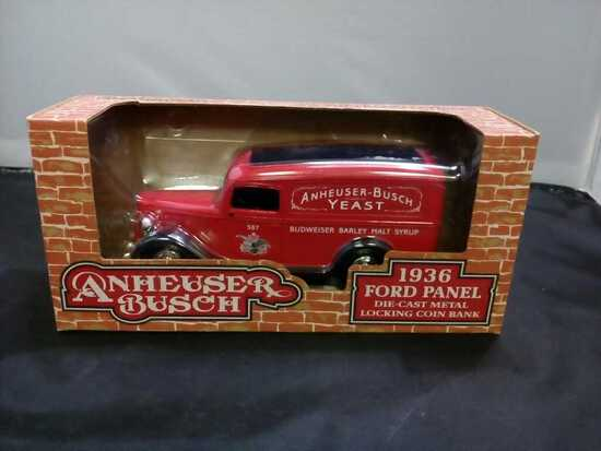 1936 Anheuser-Pusch Ford Panel Die-Cast Bank.