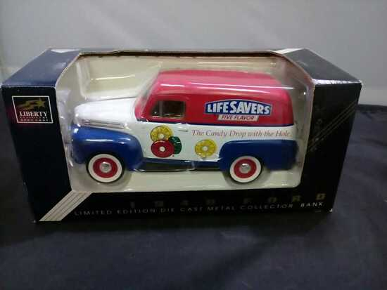 1948 Lifesavers Ford Die-Cast Bank.