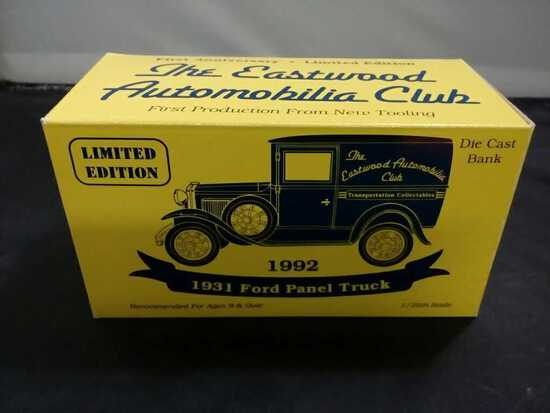 1931 Ford Panel Truck Die-Cast Bank.