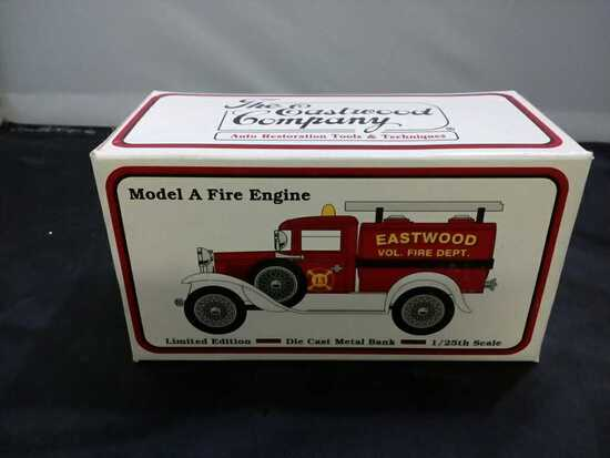 Model A Fire Engine Die-Cast Bank.