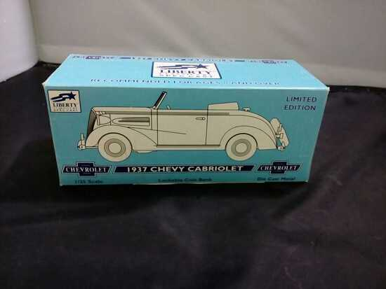 1937 Chevy Cabriolet Die-Cast Coin Bank.