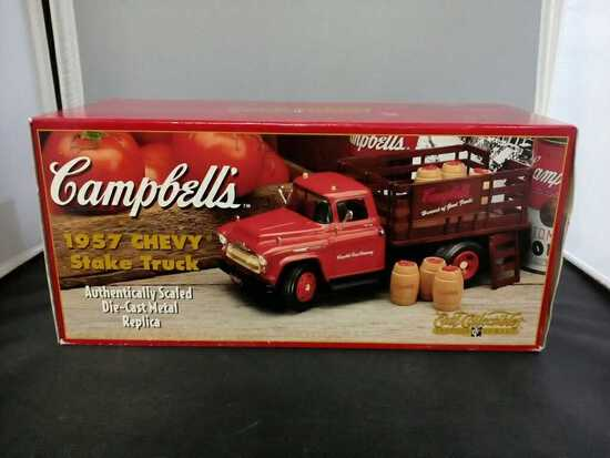 1957 Campbells Chevy Stake Truck Die-Cast Replica