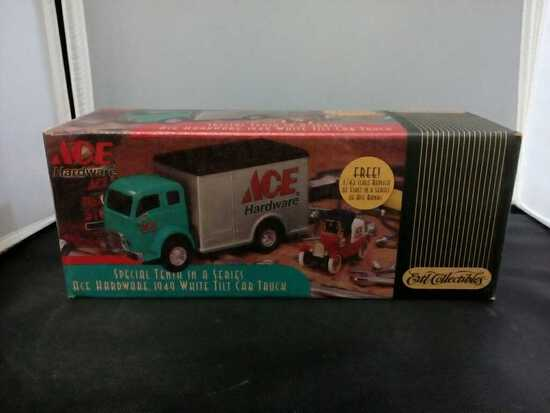 1949 Ace Hardware White Tilt Cab Truck Die-Cast Ba