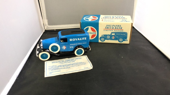 1932 Royalite Panel Truck Die-Cast Bank.