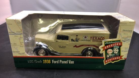 1936 Texaco Ford Panel Van Die-Cast Replica.