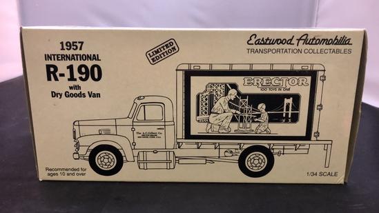 1957 International R-190 with Dry Goods Van Die-Cast Replica.