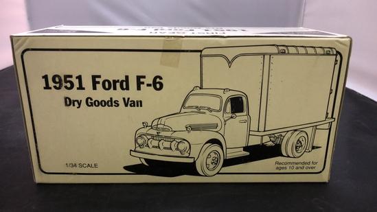 1951 Ford F-6 Dry Goods Van Die-Cast Replica.