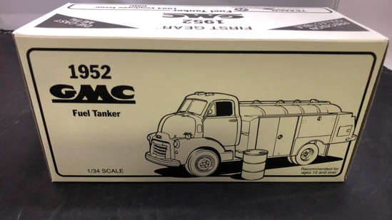 1952 GMC Fuel Tanker Die-Cast Replica.