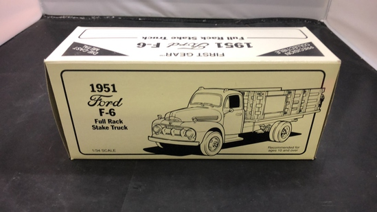 1952 Ford F-6 Full Rack Stake Truck Die-Cast Replica