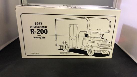 1957 International R-200 with Moving Van Die-Cast Replica.