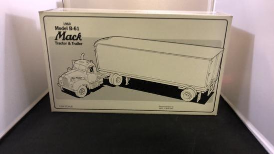 1960 Mack Model B-61 Tractor & Trailer.