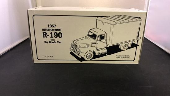 1957 International R-160 with Dry Goods Van Die-Cast Replica