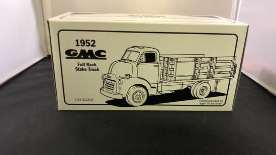 1952 GMC Full Rack Stake Truck Die-Cast Model.