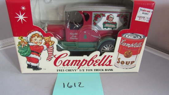 1923 Chevy 1/2 Ton Truck Bank Die-Cast Replica.