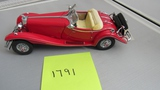 1935 Mercedes Benz 500K Special Roadster, Die-Cast Replca.