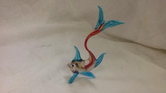 Fish Art Glass Figurine