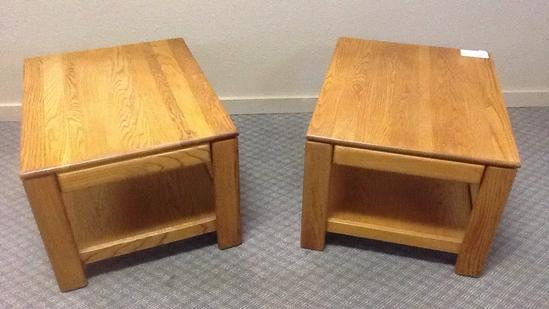 Pair of Oak End Table