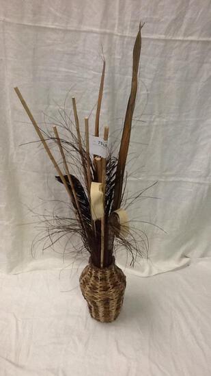 Rustic Floral Arrangement in Basket Style Vase