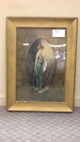 Framed Lady w/Baby Artwork