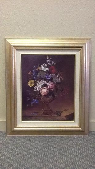 Floral Art in Frame