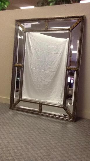 Beveled Edge Ornate Mirror