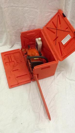 Husqvarna 445 Chainsaw with Orange Carry Case