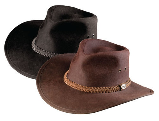 HAT 620BL6- DOWN UNDER OILSKIN HAT BL L