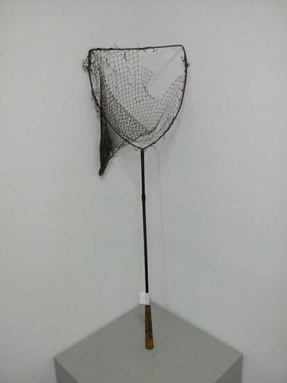 Antique Metal & Wood Fishing Net