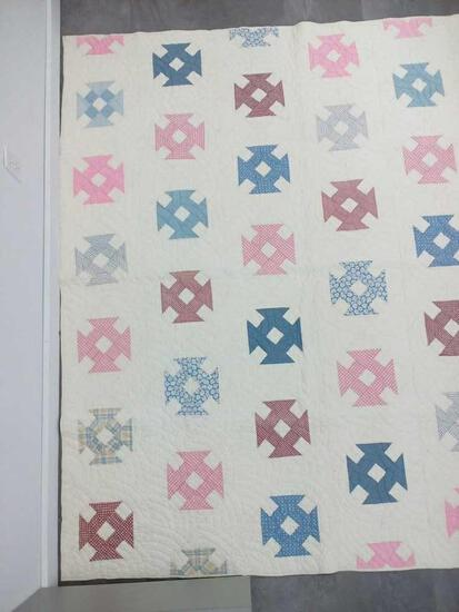 Maltese Cross Variation Quilt 74X74