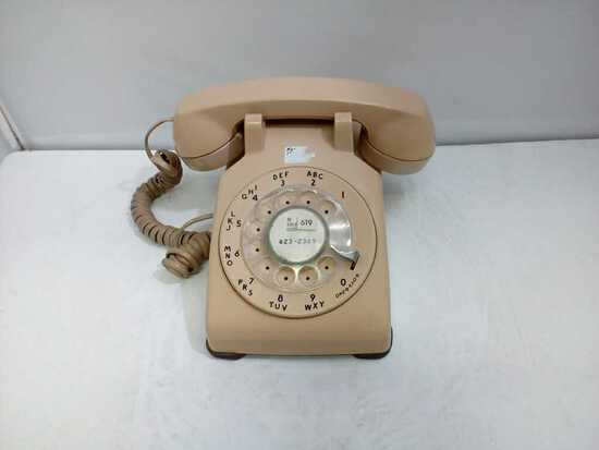 1960s Bell System Rotary Phone - Peach