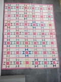 Giant Start Quilt 66X80 Hand Quilted c 1940