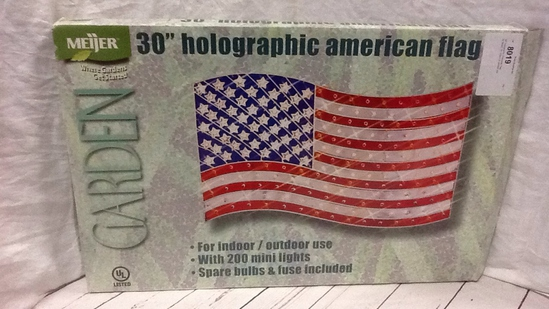"""30"""" Holographic American Flag"""