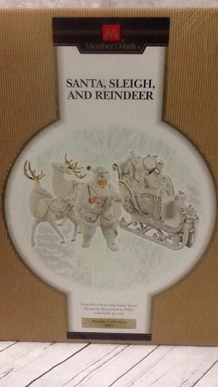 Member's Mark Santa, Sleigh, and Reindeer