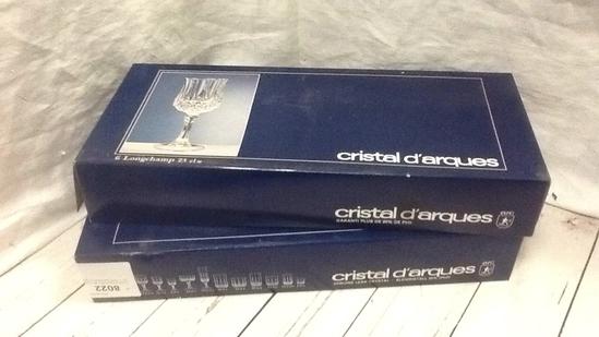 Cristal D'Arques Box Set of Longchamp Stemware