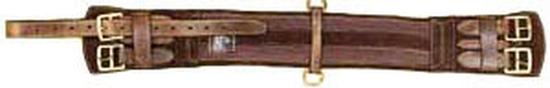 GIRT 330BR32 - PREMIUM LEATHER GIRTH BRN 32