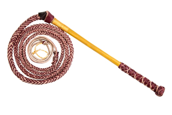 WHIP 950 - CANE HANDLE REDHIDE STOCKWHIP