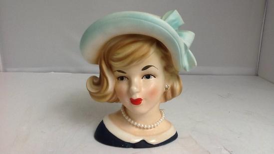 Vintage Teen Girl Head Vase