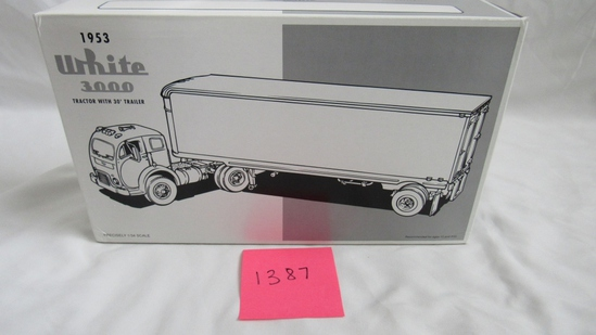 1953 White 3000 Tractor with 30' Trailer Die-Cast