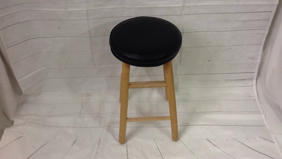 Single Bar Stool-Faux Leather