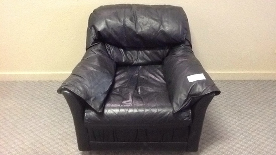 Black Leather-like Chair