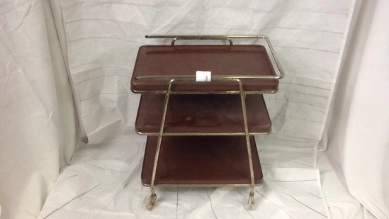 Vintage Three Tier Metal Serving Cart