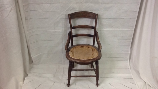 Cane Bottom Single Wood Chair