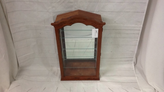 Howard Miller Oak Display Cabinet w/Glass Shelves