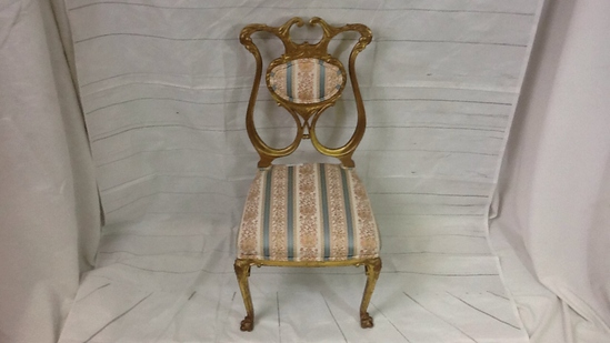 Gold Painted Parlor Chair