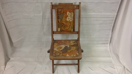 Eastlake style folding wood chair