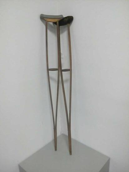 Antique Wood Crutches